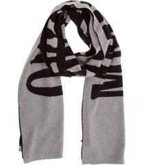 moschino double question mark wool scarf