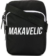 makavelic cross-tie pouch bag - black