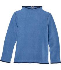 fleece pullover, jeansblauw/nachtblauw s