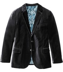 giacca elegante in velluto slim fit (nero) - rainbow