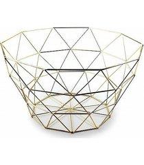 kosz druciak złoty geometryczny