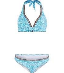 bikini con reggiseno a triangolo (blu) - bodyflirt