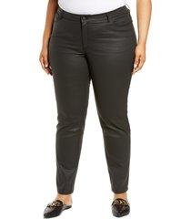 plus size women's lafayette 148 new york thompson primo denim jeans, size 22w - black