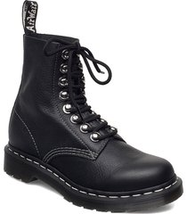 1460 pascal hdw black virginia shoes boots ankle boots ankle boot - flat svart dr. martens