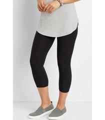 maurices womens high rise black ultra soft capri leggings