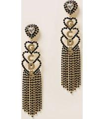 gcds jewel candelier gcds earrings with maxi crystal heart