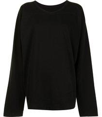 rick owens drkshdw varsity knit long-sleeve t-shirt - black