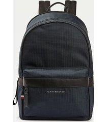 tommy hilfiger men's contrast trim recycled polyester backpack desert sky -