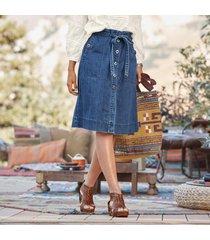 dunaway denim skirt