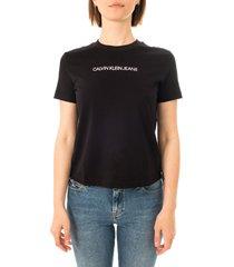 calvin klein t-shirt donna shrunken institutional tee j20j215322.beh