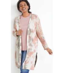 maurices plus size womens pink tie dye duster cardigan