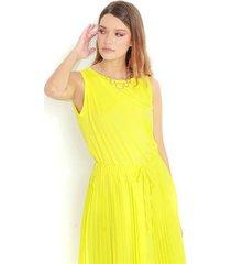 camiseta para dama cuello redondo, manga sisa color-amarillo-talla-xxs