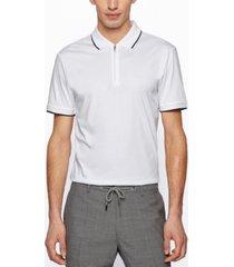 boss men's zip slim-fit polo shirt