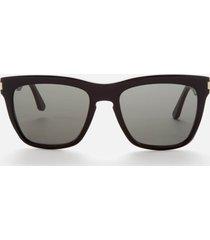 saint laurent women's devon rectangle acetate sunglasses - black/grey