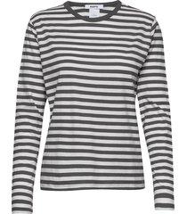 base ls tee t-shirts & tops long-sleeved zwart hope