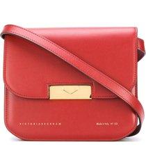 victoria beckham eva foldover crossbody bag - red