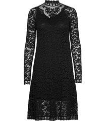 dress ls jurk knielengte zwart rosemunde