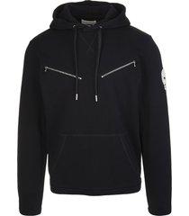 alexander mcqueen man black skull hoodie