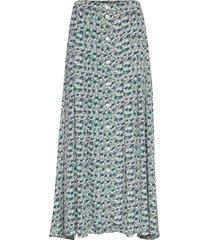 cinda skirt aop 10056 lång kjol grön samsøe samsøe