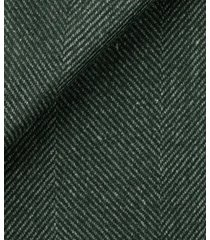 cappotto da uomo su misura, tessitura di quaregna, traveller verde macro spigato, quattro stagioni | lanieri