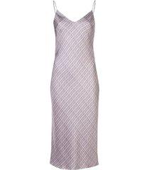 silk purple shift midi dress