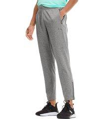 puma men's power knit trackster pants - grey - size m