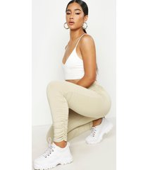 ruched side legging, stone