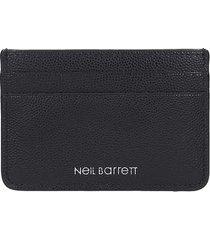 neil barrett wallet in black leather