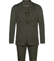 bs molise, suit set pak groen bruun & stengade