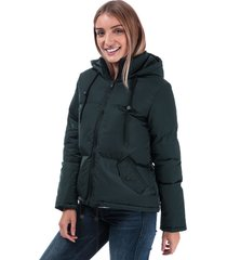 womens cello padded hooded jacket