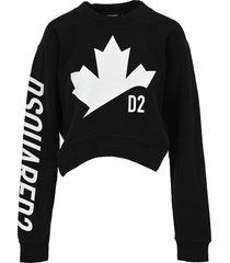 dsquared2 d squared d2 leaf asymmetric sweatshirt