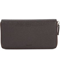 maas leather zip-around wallet