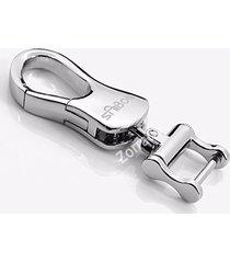 luxury silver chrome metal key chain for bmw mercedes land rover lexus cadillac