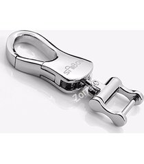 luxury silver chrome metal key chain for bmw mercedes land rover lexus cadillac