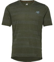 q speed fuel jacquard ss t-shirts short-sleeved grön new balance