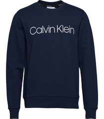 cotton logo sweatshi sweat-shirt trui blauw calvin klein