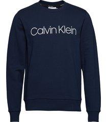 cotton logo sweatshirt sweat-shirt trui blauw calvin klein