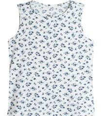 camiseta esqueleto blanco-azul facol