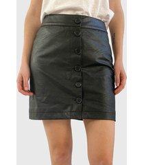 falda ash corta negro - calce regular