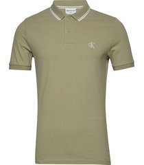 ck essential tipping slim polo polos short-sleeved grön calvin klein jeans