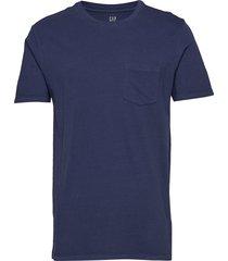 pocket t-shirt t-shirts short-sleeved blå gap