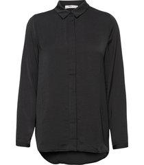 blair polysilk shirt långärmad skjorta svart moss copenhagen