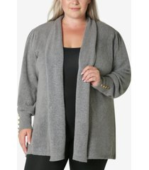 adrienne vittadini women's plus size cardigan sweater