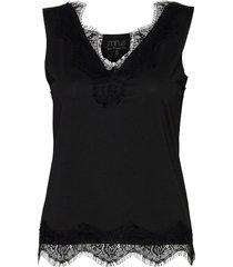 asa v-neck t-shirts & tops sleeveless svart minus