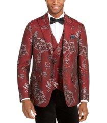 tallia men's slim-fit metallic floral dinner jacket