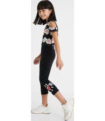 slim leggings knee-length - black - xl