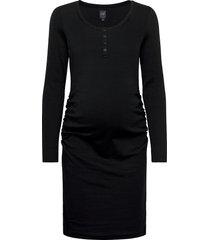 maternity scoopneck henley dress knälång klänning svart gap