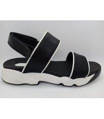 sandalia negr abryl calzados moana