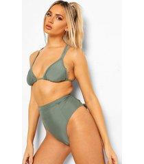 essentials driehoek bikini top met dubbele bandjes, salie
