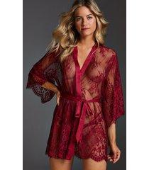 hunkemöller kimono lace isabelle röd